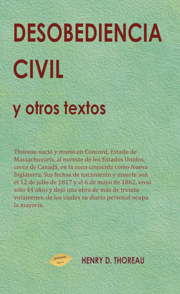 Desobediencia Civil y otros textos (Nuevo)